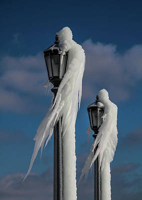 Photograph - Ice Lamp Ladies by Perggals - Stacey Turner