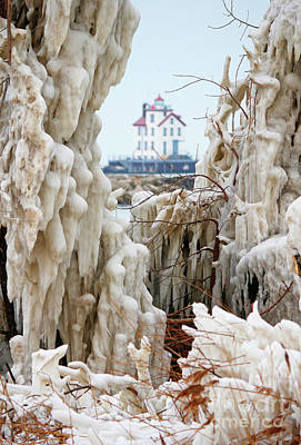Photograph - Ice Lighthouse by Debbie Parker
