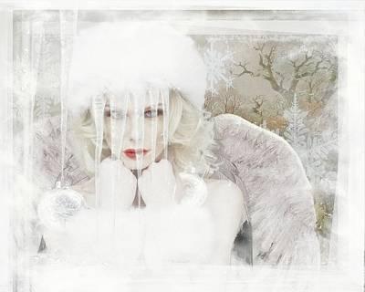 Digital Art - Ice Maiden by Terry Fleckney