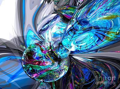 Internal Digital Art - Ice Majesty Abstract by Alexander Butler