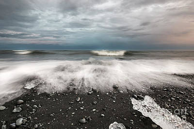 Photograph - Ice On Black Sand by Gunnar Orn Arnason