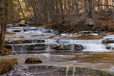 Photograph - Ice On Fall Stream by Vance Bell