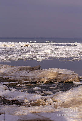 Photograph - Ice On Lake Huron by Kathy DesJardins