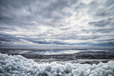 Photograph -  Ice On Lake Nipissing by Brian Boudreau