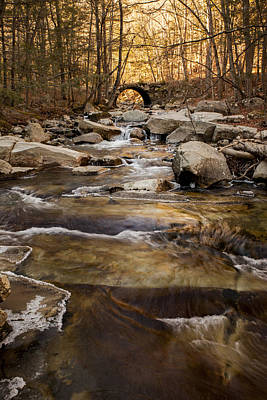 Photograph - Ice On Stickney Brook by Vance Bell