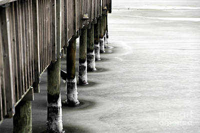 Photograph - Ice On The Lbi Dock by John Rizzuto