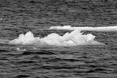 Photograph - Ice On The River 2018 2 by Mary Bedy