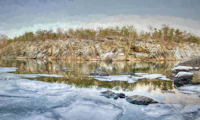 Soap Suds - Ice on the River by Francis Sullivan