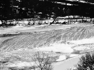 Photograph - Ice On The River by Stephanie Moore