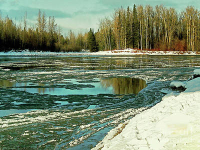 Photograph - Ice On The Telkwa River by Anne Havard