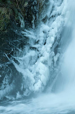 Photograph - Ice On Youngs River Falls by Robert Potts