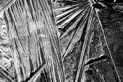 Photograph - Ice Patterns Black And White by Debbie Oppermann