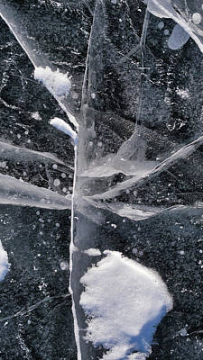 Photograph - Ice Patterns Xiii by Steven Ralser