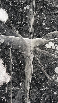 Photograph - Ice Patterns Xix by Steven Ralser