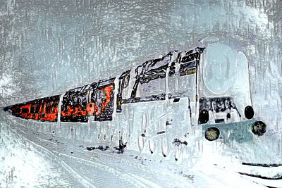 Mixed Media - Ice Queen Express by Pennie  McCracken