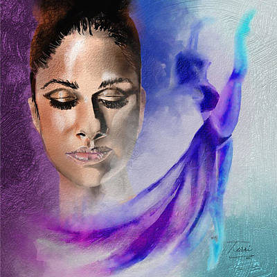 African-american Drawing - Ice Queen by Terri Meredith
