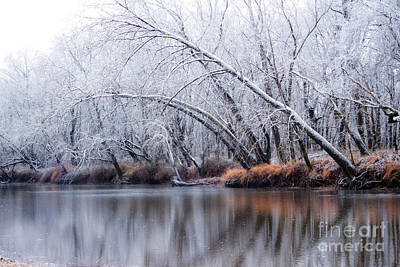 Photograph - Ice Reflection On The River  by Peggy Franz