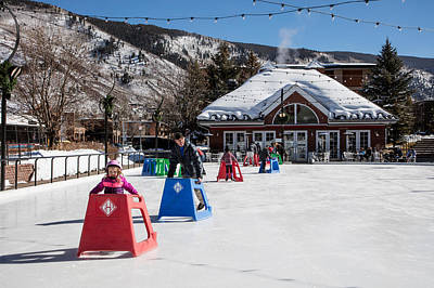 Photograph - Ice Rink In Downtown Aspen by Carol M Highsmith