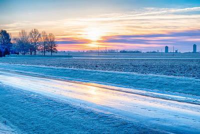 Thomas Kinkade Royalty Free Images - Ice Road Royalty-Free Image by John Diebolt
