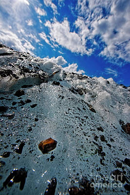 Photograph - Ice Rock And Sky by David Arment
