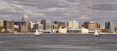 Photograph - Ice Sailing - Lake Monona - Madison - Wisconsin by Steven Ralser