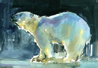 Loose Style Painting - Ice Silhouette by Mark Adlington