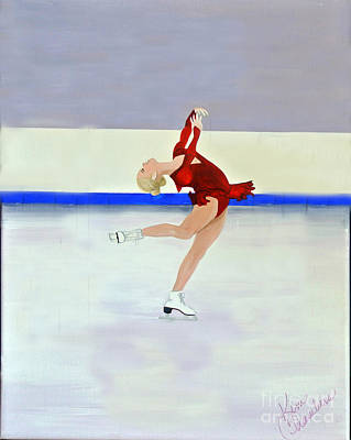 Painting - Ice Skater by Kim Chambers