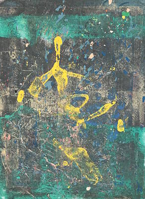 Mixed Media - Ice Skater by Susan Richards