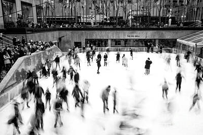 Photograph - Ice Skaters On The Rink by John Rizzuto