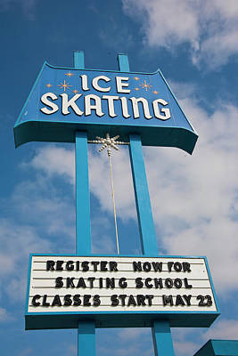 Art Print featuring the photograph Ice Skating 2 by Matthew Bamberg