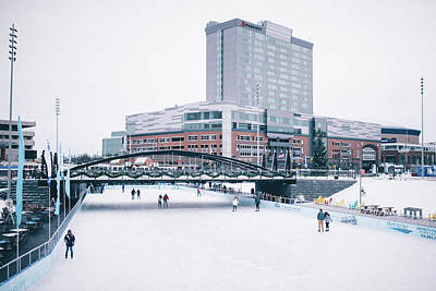 Pyrography - Ice Skating At Canalside by Colin Gordon