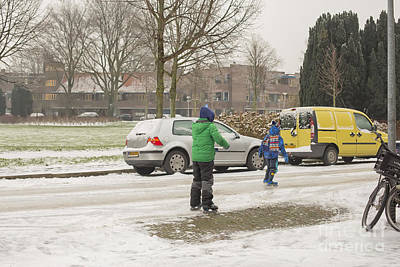 Photograph - Ice Skating On A Glazed Road  by Patricia Hofmeester