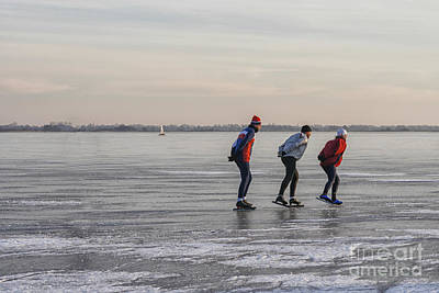 Photograph - Ice Skating On A Lake by Patricia Hofmeester