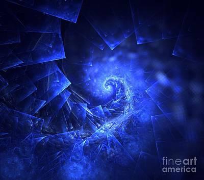 Digital Art - Ice Spiral by Kim Sy Ok