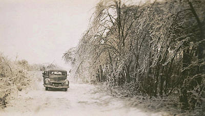 Truck Photograph - Ice Storm Circa 1948 by JAMART Photography