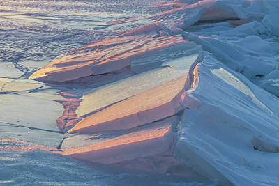 Photograph - Ice Tectonics by Mary Amerman