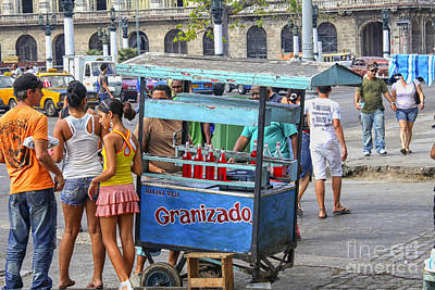 Photograph - Ice Vendor On Streets Of Havana by Patricia Hofmeester