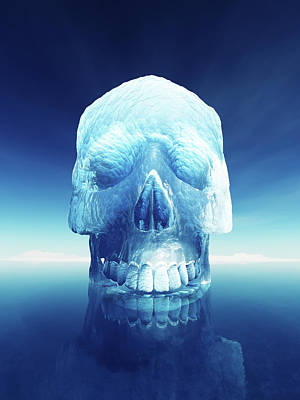 Reflections Digital Art - Iceberg Dangers by Johan Swanepoel