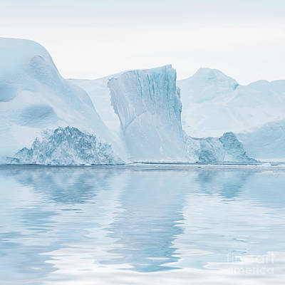 Greenland Photograph - Iceberg In Disko Bay Greenland by Janet Burdon