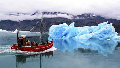 Photograph - Iceberg by Joel Gilgoff