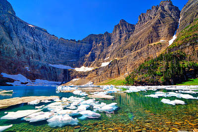 Photograph - Iceberg Lake by Greg Norrell