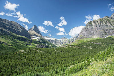 Photograph - Iceberg Lake Trail Mountain Valley - Glacier National Park by Jason Kolenda