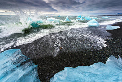 Photograph - Iceberg Pieces In South Iceland by Matthias Hauser