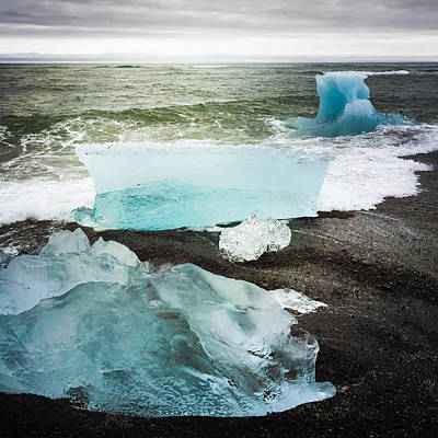 Cool Photograph - Iceberg Pieces Jokulsarlon Iceland by Matthias Hauser