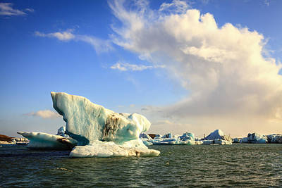 Photograph - Icebergs And Clouds by Alexey Stiop