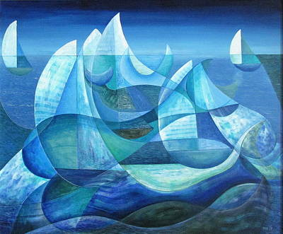 Painting - Icebergs And Whales by Douglas Pike