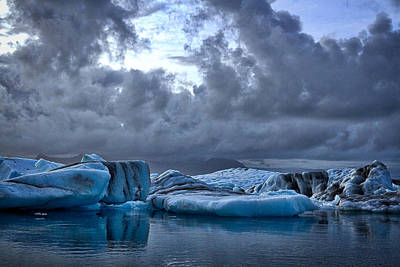 Photograph - Icebergs In Glacier Lagoon #2 - Iceland by Stuart Litoff