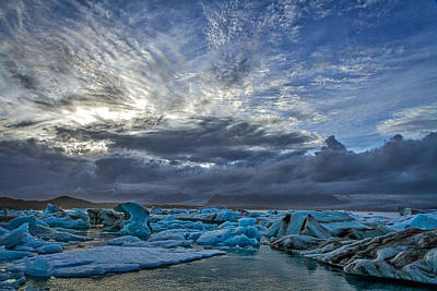 Photograph - Icebergs In Glacier Lagoon #5 - Iceland by Stuart Litoff
