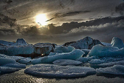 Photograph - Icebergs In Glacier Lagoon #6 - Iceland by Stuart Litoff