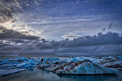 Photograph - Icebergs In Glacier Lagoon #7 - Iceland by Stuart Litoff